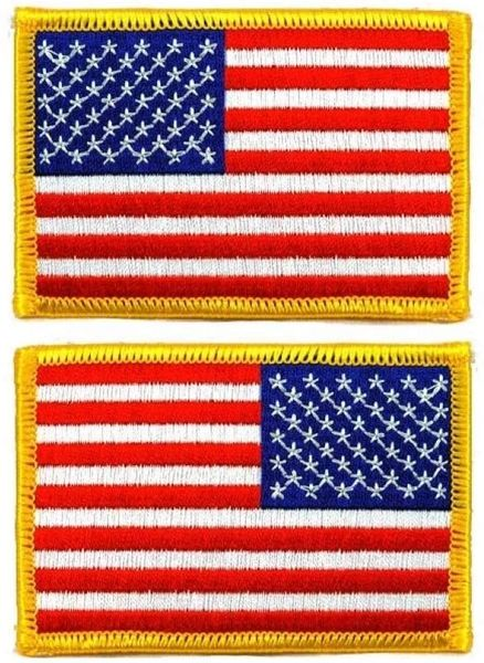 Embroidered USA Flag Shoulder Patch PAT-0126