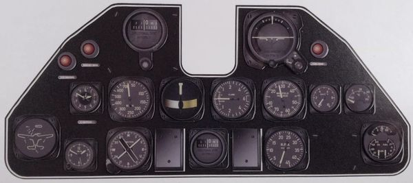 Miniature Curtiss P-40 Warhawk Instrument Panel MIN-P-40
