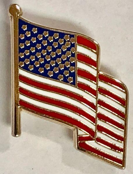 Wavey USA Flag Lapel Pin LP-0104
