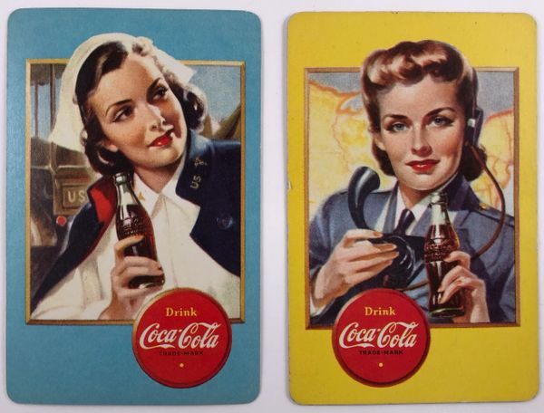 Two1940s WW II Era Coca Cola Playing/Spotter Cards PC-0105