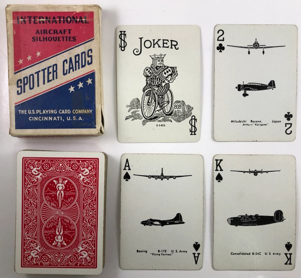 Genuine WWII Aircraft Spotter Cards, Red PC-0106