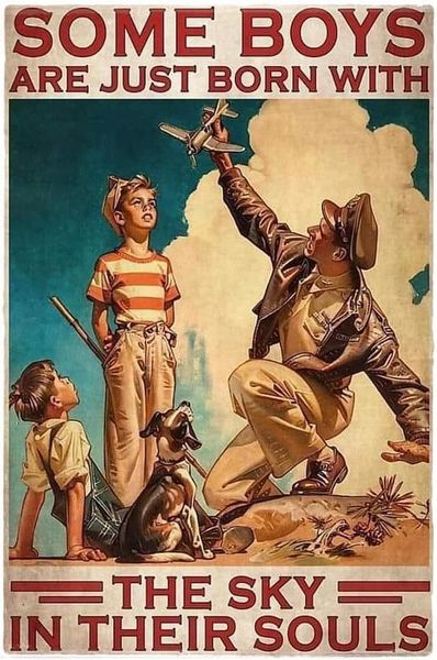 WWII Aviator Poster Metal Sign OUR-0108