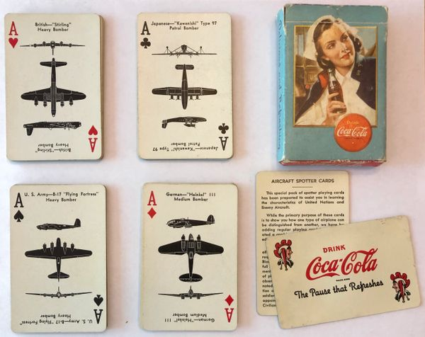Genuine Coca-Cola WWII Aircraft Spotter Cards, Nurse PC-0106
