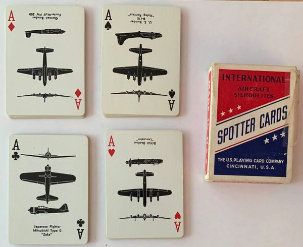 Genuine Bicycle Brand WWII Aircraft Spotter Cards, Red PC-0106