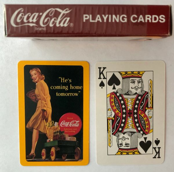 Reissued (1992) Coca-Cola WWII Homecoming Playing Cards PC-0107