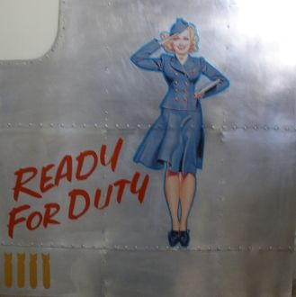 "Nose Art Panel- ""Ready For Duty"" NAP-0103"