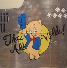 "Nose Art Panel- Porky ""That's All Volks"" NAP-0110"