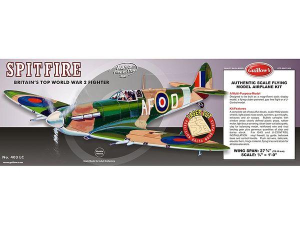 Guillow's Supermarine Spitfire Balsa Wood Model Kit GUI-403