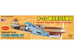 Guillow's Curtiss P-40 Warhawk Balsa Wood Model Airplane Kit GUI-501