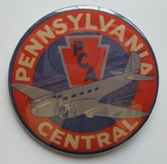 """""""Pennsylvania Central"""" Pin Back Button, Wholesale Lot of 35 BTN-0114"""
