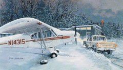 "Burt Mader Print ""Super Cub's Day Off"" Piper PA-18 Super Cub ART-0118"