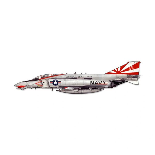 McDonnell F-4 Phantom II Cutout Metal Sign SIG-0122