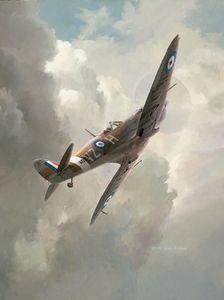 "Keith Ferris Print, Spitfire ""High Flight"" FRS-01"