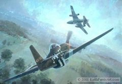 "Keith Ferris Print, P-51 Mustang ""Nowotny's Final Encounter"""