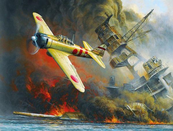 "Don Kloetzke Print, A6M2 Zero, ""Ground Zero"""