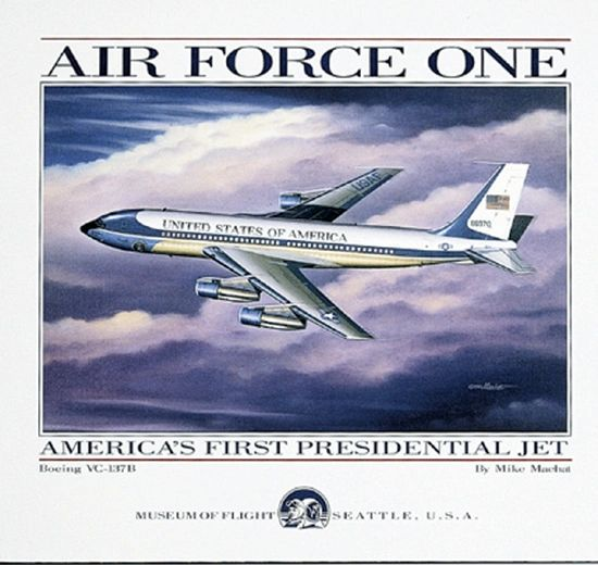 """Mike Machat Poster """"Air Force One"""""""