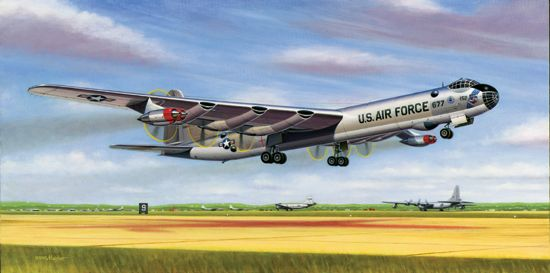 "Mike Machat Print, B-36 Peacemaker ""Six Turnin' and Four Burnin'"" MCH-08"