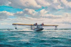 "Roy Cross Print, PBY Catalina, ""Great Catalina Take Off"""