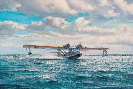 "Roy Cross Print, PBY Catalina, ""Great Catalina Take Off"""