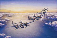 """Domenic DeNardo Print, P-38 Lightning """"Lindberg's Secret"""""""
