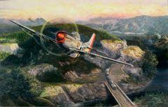 """Rick Herter Print, P-51 Mustang """"Railroaded"""""""