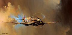 "Barrie A. F. Clark Print, Spitfire ""Spitfire!"" ROS-01"