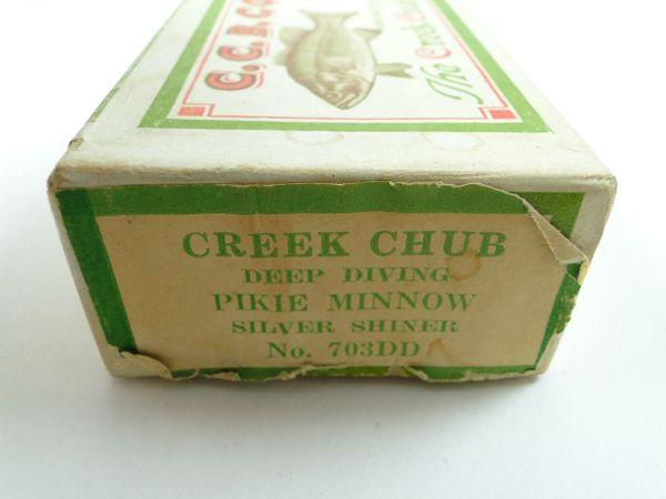 Creek Chub Deep Diving Pikie Minnow Silver Shiner No. 703 DD Box