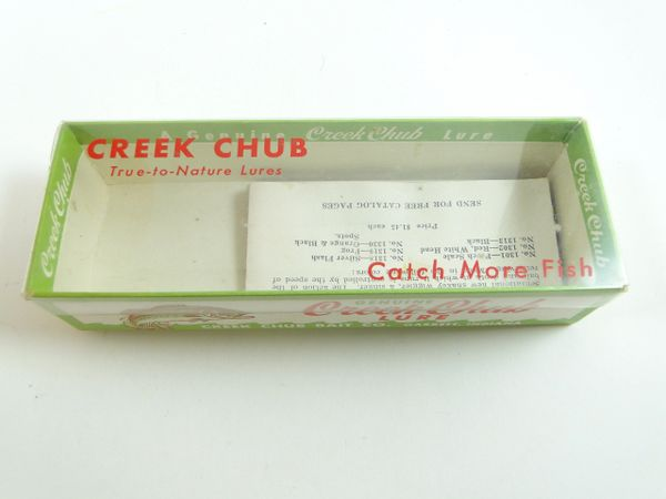 Creek Chub 6577 RW Red White Mouse Fishing Lure Box and Papers