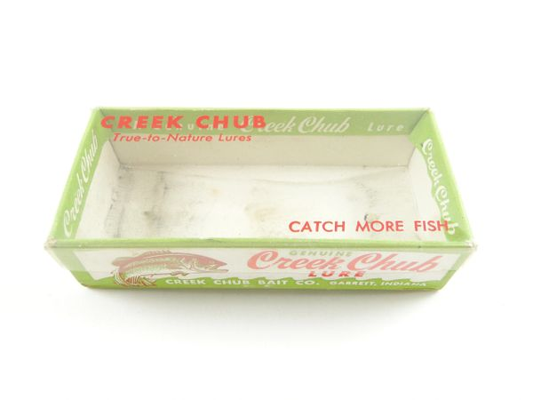 Creek Chub 9218 Empty Box For Spinning Plunker in Silver Flash