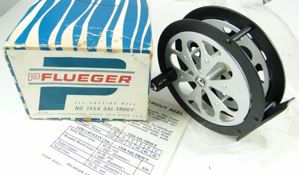 Pflueger 1554 Sal Trout Fly Fishing Reel NEW OLD STOCK in BOX 1965
