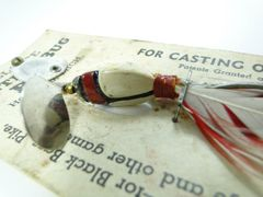 Millsite Beetle Bug Bait Casting Trolling Lure on Card Howell Michigan