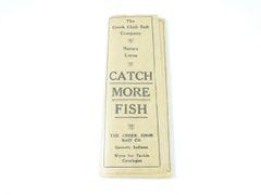 Creek Chub Intro Fishing Lure Insert Catalog 1920's