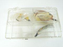 Gladding Box with Vintage Salmon Flies