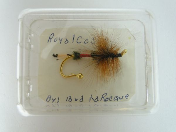 14K GOLD Fly Rod Lure PIN Royal Coachman Bud LaRocque