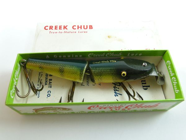 Creek Chub 2601 Jointed Pikie New in Box with Catalog Circa 1956
