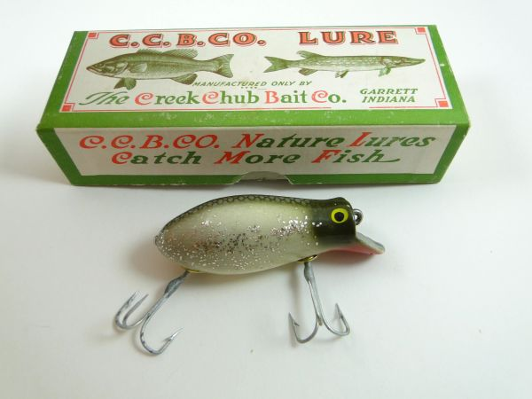 Creek Chub Bomber 6618 Silver Flash Brass Cups NEW OLD STOCK!
