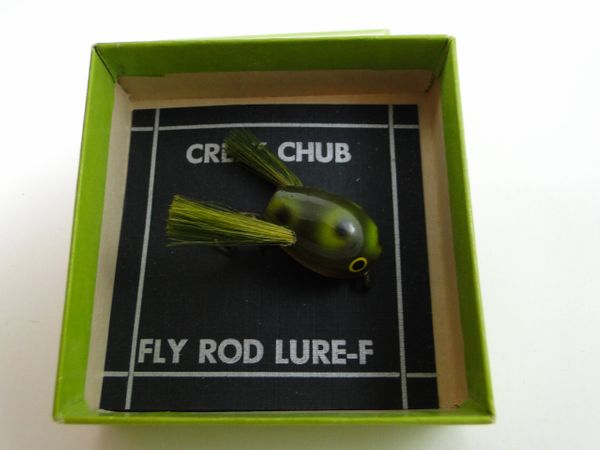 Creek Chub Fly Rod Bass Size Dingbat Model 1419 FROG NEW IN CORRECT STAMPED FLY BOX