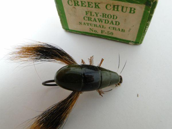 Creek Chub Fly Rod Crawdad Model F50 EX+ in LABEL END BOX