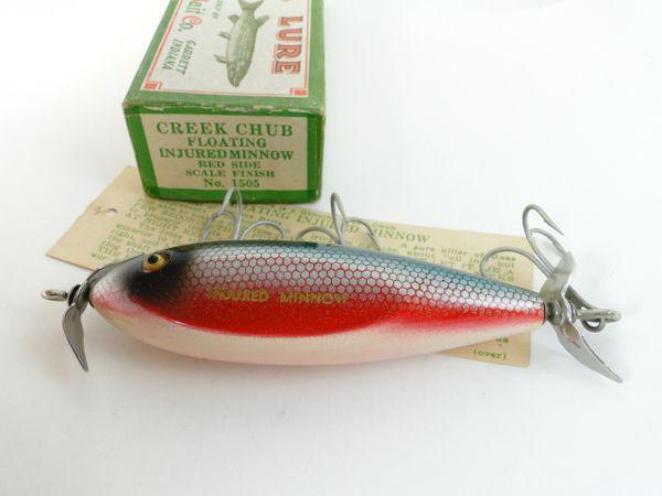 Creek Chub 1505 DACE Injured Minnow NEW in Crisp 1505 Label End Box + Hangtag BEAUTIFUL!