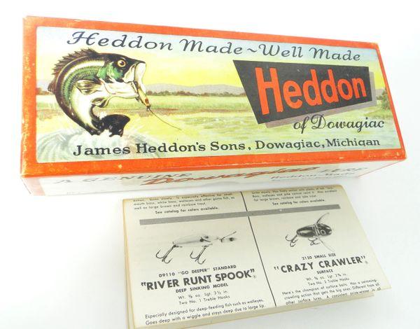 Heddon 150 L PERCH 5 Hooker Empty Box VERY CLEAN