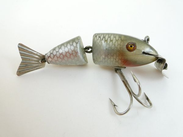 Creek Chub 2503 Baby Wigglefish in Silver Shiner EARLY ONE! 1925-1933