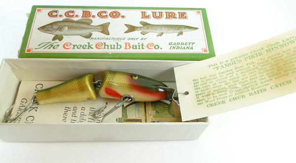 Creek Chub 2701 Baby Jointed Pikie NEW OLD STOCK 1930's in LABEL BOX