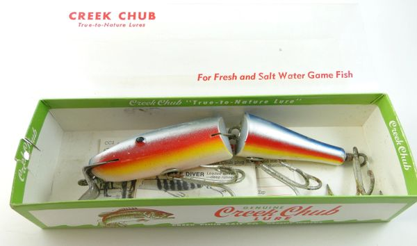 Creek Chub Jointed Husky Pikie Rainbow Model 3008 in Box with Papers