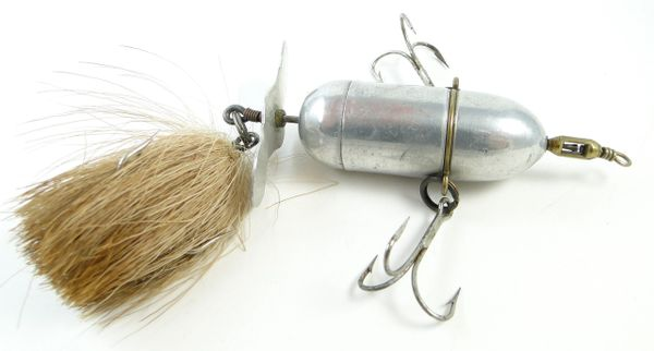 Shakespeare Wordens Bucktail Revolution with Marked Mickey Mouse Props Pat. Applied For