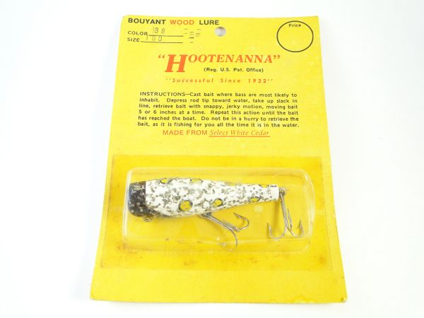 Hootenanna WILD COLOR! Wood Fishing Lure New Old Stock in Package
