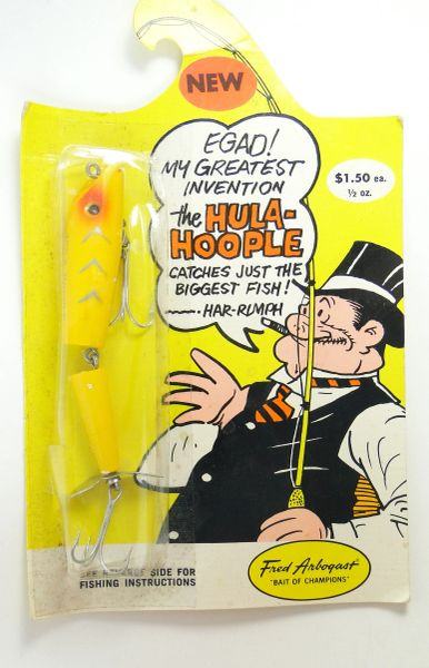 Fred Arbogast Hula Hoople COACHDOG New in TOUGH PACKAGE!