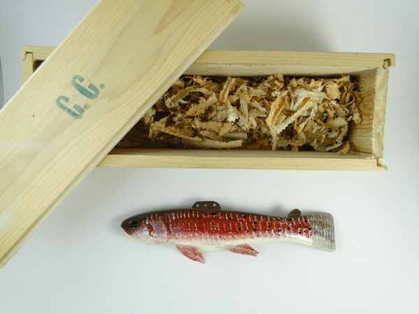 Carl Christiansen Canadian Red Trout Hand Carved Fishing Decoy NEW & UNUSED