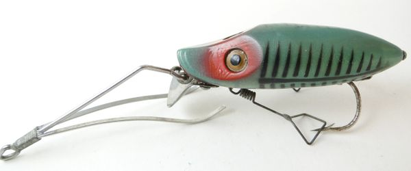 Heddon No Snag GreenFish Shore Minnow N9119 XGF 1941 Style 2 Weed Guard