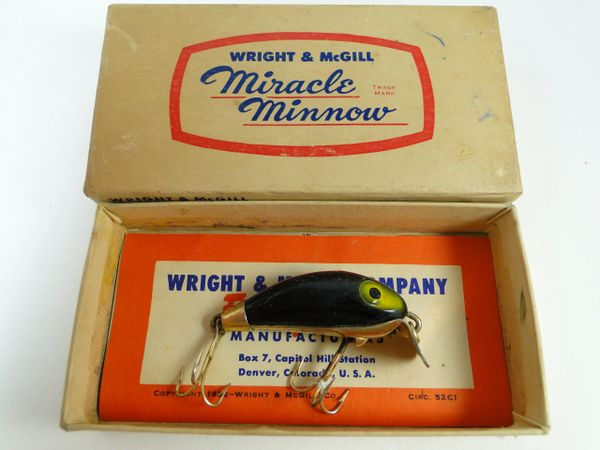 Wright & McGill Miracle Minnow Black Gold Hardware in Box