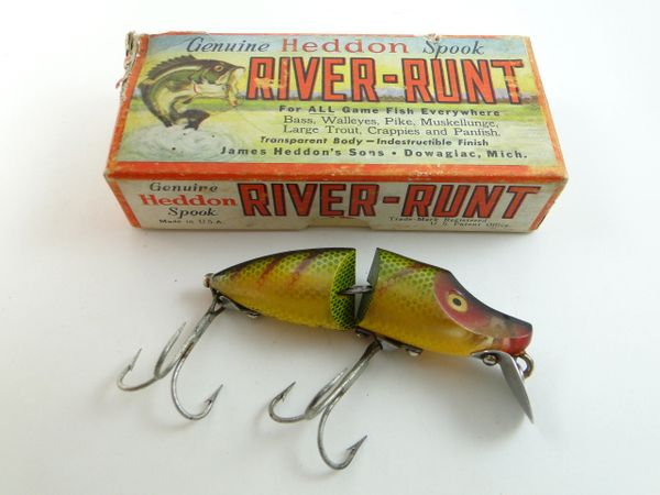 Heddon 9330 L Perch Jointed River Runt Spook Sinker New in Box